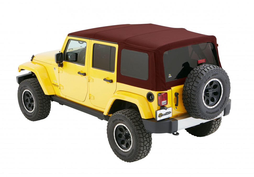 Bestop 5482368 Supertop NX Soft Top Jeep Wrangler JK 07-18 4 Door (Crushed Red Pepper)