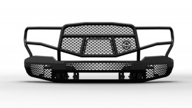Ranch Hand Midnight Series Front Bumper w/ Grille Guard Chevrolet Silverado 1500 19-20 New Body Style (MFC19HBM1)