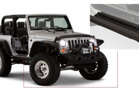 Bushwacker 14011 Trail Armor Rocker Panel Black Jeep Wrangler JK 07-18 2Door
