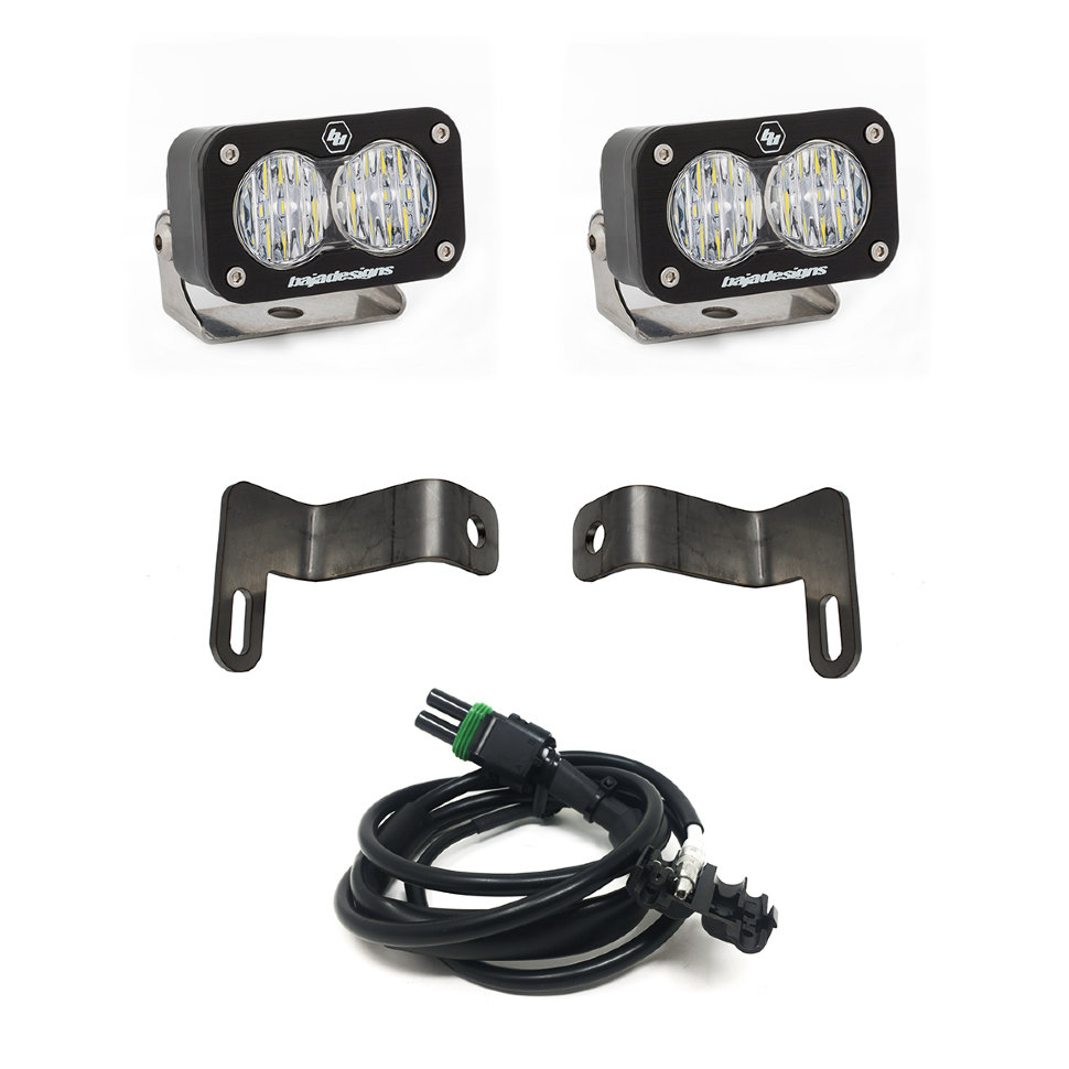 Baja Designs S2 Sports Lights Wide Cornering Reverse Kit White Beam Dodge Ram 2500/3500 (448038)