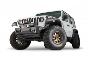 Warn Rock Crawler Stubby Bumper without Grille Guard Tube Jeep Wrangler JK/JL / Gladiator JT 07-21 (102510)