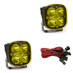 Baja Designs Squadron Sport Amber Beam LED Light Pair