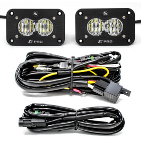 Baja Designs S2 Pro LED Light Kit Wide Cornering Pair Flush Mount (487807)