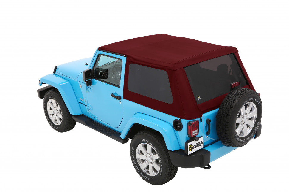 Bestop 5685268 Trektop Soft Top Jeep Wrangler JK 07-18 2 Door (Crushed Red Pepper)