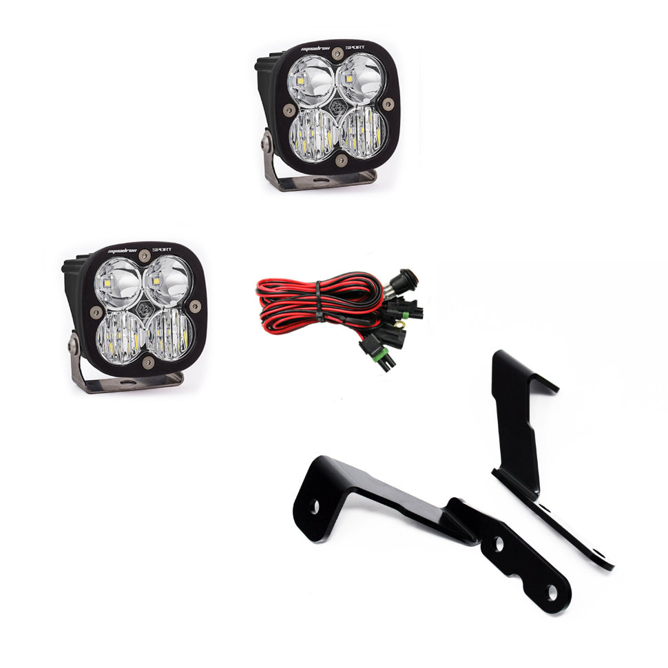 Baja Designs A-Pillar Squadron LED Lights Mounting Brackets Kit Chevrolet Silverado, GMC Sierra