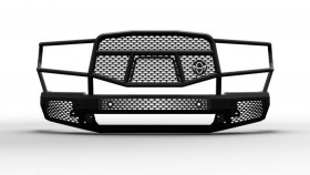 Ranch Hand Midnight Series Front Bumper w/ Grille Guard Ram 1500 New Body Style 19-20 (MFD19HBM1)